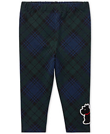 Polo Ralph Lauren Baby Girls Plaid Embroidered Pants