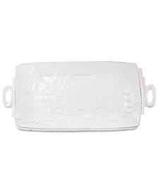 Lastra Winterland Stoneware Rectangular Platter