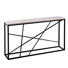 Arendal Faux Marble Skinny Console Table, Quick Ship