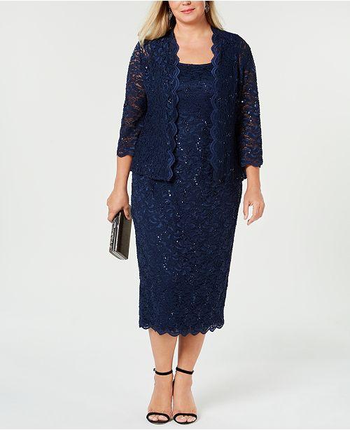 a5e71574824 Alex Evenings Plus Size Sequin Lace Dress   Jacket   Reviews ...