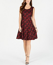 INC Sparkly Lace Skater Dress, Created For Macy's