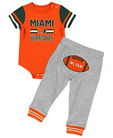 Colosseum Miami Hurricanes Football Creeper Pant Set, Infants (0-9 Months)