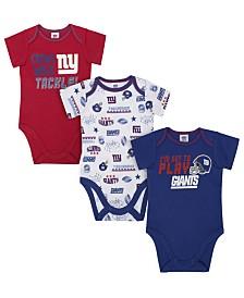 Gerber Childrenswear New York Giants 3 Pack Creeper Set, Infants (0-9 Months)