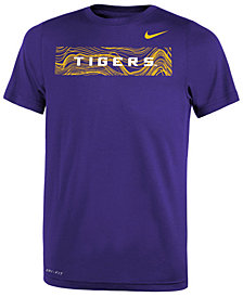 Nike LSU Tigers Legend Sideline T-Shirt, Big Boys (8-20)