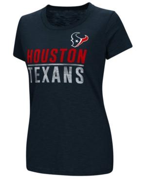 G-iii Sports Women's Houston Texans Dynasty Stacked Glitter T-Shirt