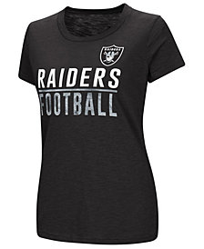 G-III Sports Women's Oakland Raiders Dynasty Stacked Glitter T-Shirt