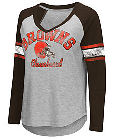 G-III Sports Women's Cleveland Browns Sideline Long Sleeve T-Shirt