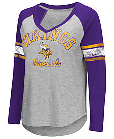 G-III Sports Women's Minnesota Vikings Sideline Long Sleeve T-Shirt