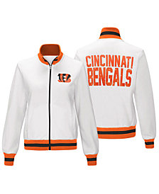 G-III Sports Women's Cincinnati Bengals Field Goal Track Jacket