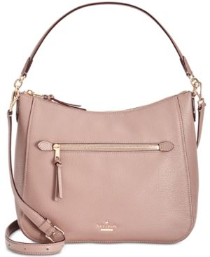 Jackson Street - Quincy Leather Hobo - Brown, Brownstone/Gold