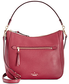 kate spade new york Jackson Street Quincy Medium Pebble Leather Shoulder Bag