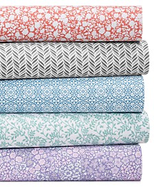 CLOSEOUT! Martha Stewart Essentials Printed Microfiber 4-Pc. Sheet Sets, Created for Macy's