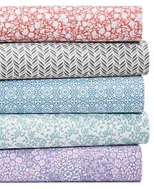 CLOSEOUT! Martha Stewart Essentials Printed Microfiber 4-Pc. Sheet Sets, Created for Macy's