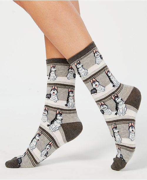 Hot Sox Women's Huskies Crew Socks
