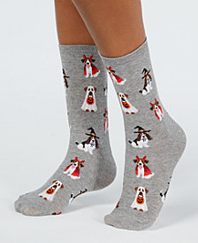 Hot Sox Women's Halloween Costumed Dogs Crew Socks