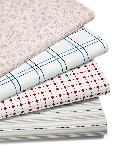 Martha Stewart Collection CLOSEOUT! Printed 220 Thread Count Sheet Sets, Created for Macy's