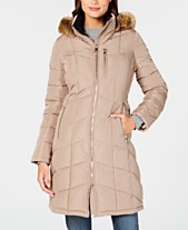3dcacf5ec71 Calvin Klein Faux-Fur-Trim Hooded Puffer Coat