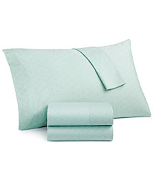 Grace Home Fashions Laundry Cotton 200 Thread Count 4-Pc. Printed Queen Sheet Set