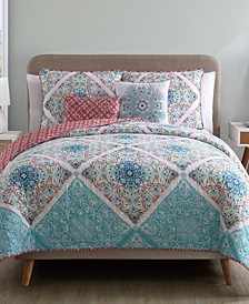 Windsor Reversible 5-Piece Queen Quilt Set