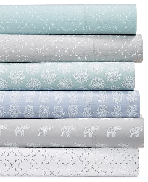 Laundry by Shelli Segal CLOSEOUT! 4-Pc. Cotton Printed Sheet Set Collection