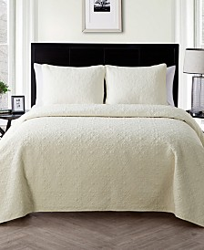 VCNY Home Caroline Embossed Floral 2-Pc. Twin Quilt Set