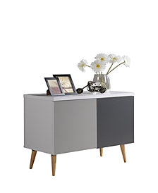 Entry Way Accent Table in White-Grey