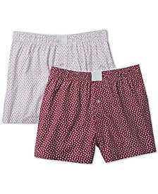 Michael Kors Men's 2-Pk. Printed Woven Boxers