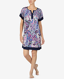 Ellen Tracy Printed Short Nightgown