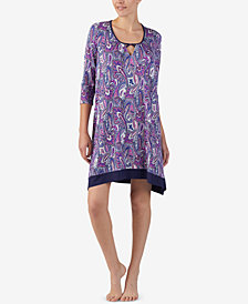 Ellen Tracy Printed Keyhole Nightgown