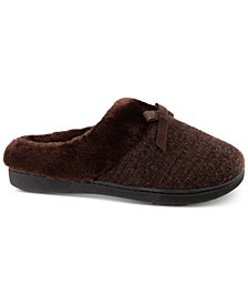 Isotoner Signature Boxed Tammy Sweater-Knit Hoodback Slippers