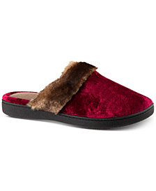 Isotoner Signature Women's Signature Velour Clog Slippers with Memory Foam