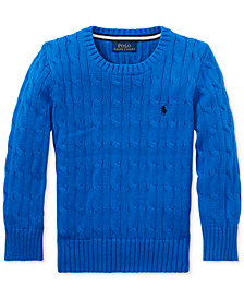 Polo Ralph Lauren Big Boys Cable-Knit Cotton Sweater