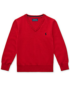 Polo Ralph Lauren Toddler Boys Cotton V-Neck Sweater