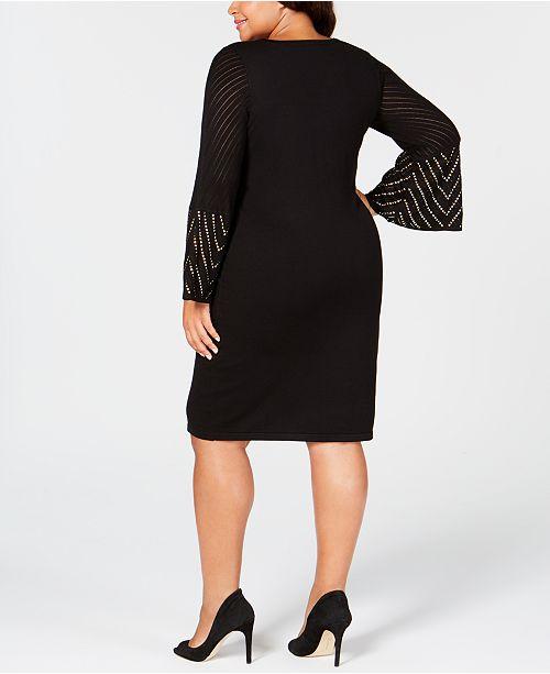 Calvin Klein Plus Size Studded Sweater Dress Dresses Women Macys