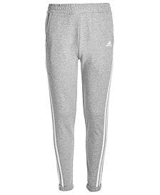 adidas Big Girls Roll-Cuff Cotton Jogger Pants