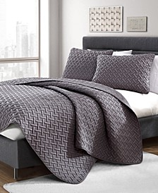 Nina 2-Piece Embossed Twin Quilt Set