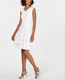Calvin Klein Embellished A-Line Dress