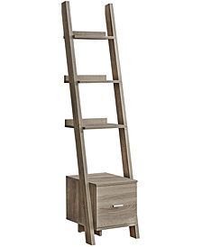 "Bookcase - 69""H Ladder with Storage Drawer"