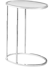 Monarch Specialties Chrome Metal Oval Edgeside Accent Table
