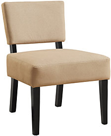 Monarch Specialties Accent Chair - Beige Fabric