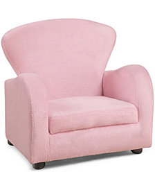 Monarch Specialties Juvenile Chair - Fuzzy Pink Fabric