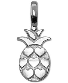 Heart Pineapple Pendant in Sterling Silver