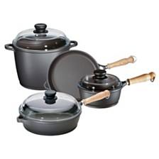 Berndes Tradition 7pc Cast Aluminum Cookware Set