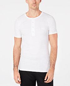 BOSS Men's Ribbed Henley T-Shirt