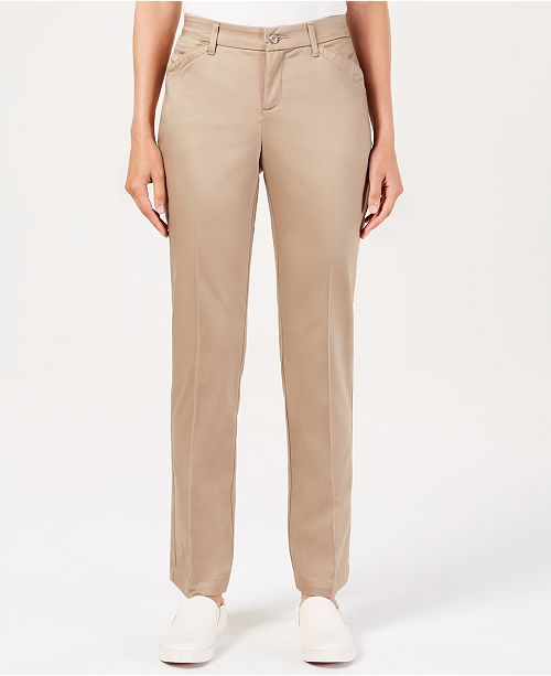Lee Platinum Petite Flex Motion Straight-Leg Jeans
