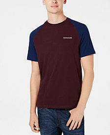 Calvin Klein Jeans Men's Colorblocked Raglan-Sleeve T-Shirt