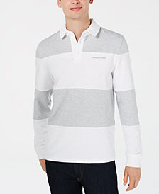 Calvin Klein Jeans Men's B&T  Rugby Stripe Polo