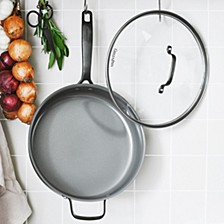 New York Pro 5-qt Ceramic Non-Stick Covered Saute pan, Created for Macy's