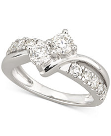 Diamond Two-Stone Engagement Ring (1-1/2 ct. t.w.) in 14k White Gold