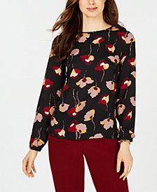 Nine West Floral-Print Top